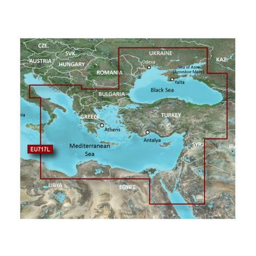 MicroSD /& SD HEU718L Mediterranean Sea HXEU718L Digitale Seekarten