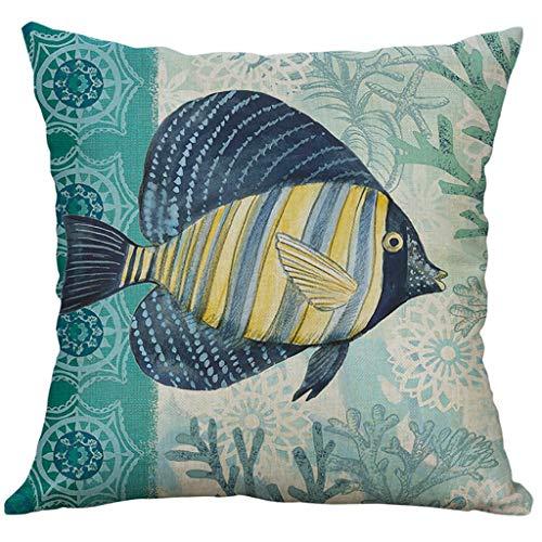 Sylar Funda de Almohada de Pascua Funda de Almohada Impresión de Criaturas Marinas Decorativa Funda de Almohada Creativa