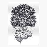 Floral Flower Flowers Flora Rbstaycay Anatomy Nature Brain El póster de decoración de interiores más impresionante y elegante disponible en tendencia ahora