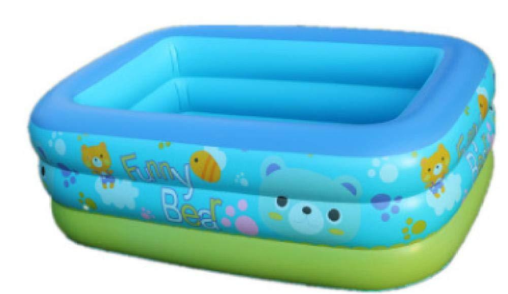 RÁPIDO Configuración de colocación Simple Centro de natación Salón Familiar Rectangular Familia Juguetes para niños 130 * 95 * 50cm Piscina Cuadrada Inflable Ocean Ball Play Remando con Bomba: Amazon.es: Jardín