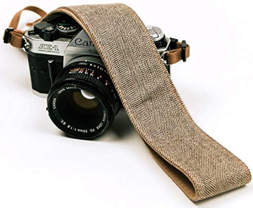 Blue Jeans Camera Strap Real Denim Belt for All DSLR Camera. Denim Style Universal SLR Strap, Neck Shoulder Camera Strap for Canon, Nikon,Pentax, Sony, Fujifilm and Digital Camera