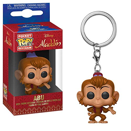 Funko 35927 Pocket Pop Keychain: Disney: Aladdin Abu, Multi