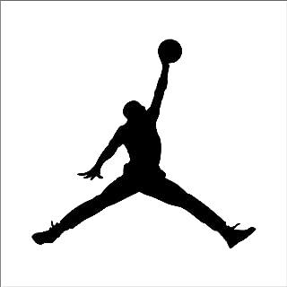 Set NBA Jordan 23 Jumpman Logo AIR Huge Vinyl Decal Sticker for Wall Car Room Windows (White)