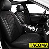 Custom Fit for 2010-2021 Toyota Tacoma Faux Leather Car Seat Covers Full Set Compatible Airbag 5 Seats Tacoma Seat Protector Black