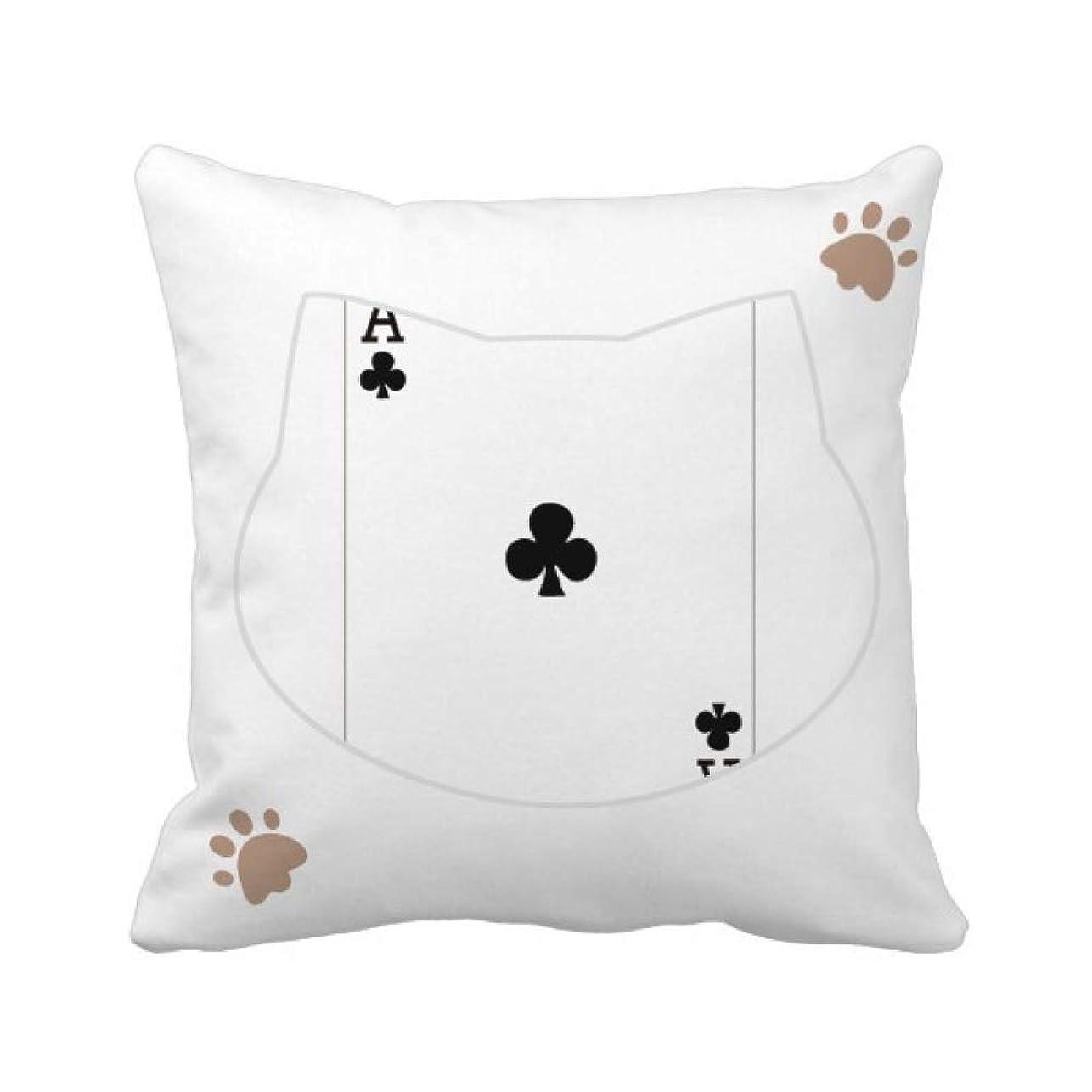 脆い感覚炭水化物クラブは、トランプのパターン 枕カバーを放り投げる猫広場 50cm x 50cm