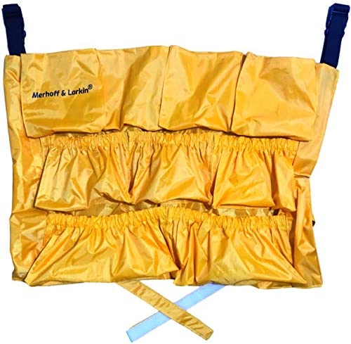 Yellow Trash Caddy Bag for Garbage Bins Brute Compatible Fits 32 50 Gallon Can Heavy Duty Vinyl product image