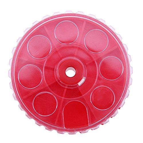 Foru-1 Caja de cebo de pesca de plástico redondo PP con 7 compartimentos