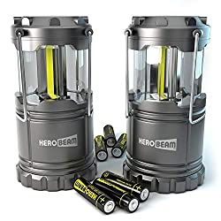 SUPER BRIGHT - twice the brightness of old tech 30 LED lanterns thanks to a trio of the latest technology COB LEDs which brightly illuminate 360 degrees - enough to light a tent, caravan, boat, garage or shed with ease. Also perfect for keeping aroun...