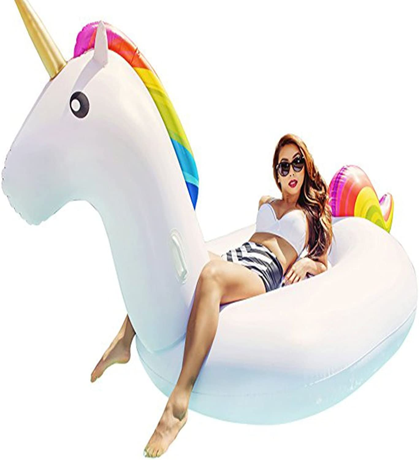 Inflatable Toy Water Mount Swimming Supplies Inflatable Swimming Ring Unicorn Floating Row