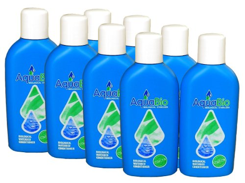 8x Aqua Bio Superkonzentrat natürlicher Wasserbett Conditioner - Wasserbettkonditionierer ohne Chemie gegen Umkippen, Luft und Gerüche im Wasserbett