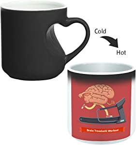 Magic Mug with inner heart handle For Coffee or tea By decalac, mugHM-BLK-03087