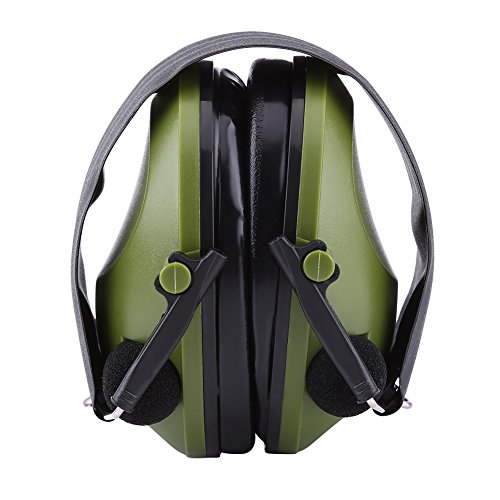 Active Noise Reduction Earmuffs, Headset Hearing Protector Ear Defenders for Construction Hunting Shooting Military(Army Green)