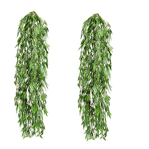 LEOFANS Künstlicher Bambushänger Kunstpflanze ca,80cm (2PCS)