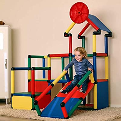 Quadro Evolution - Learn and Play Construction Kit/Rugged Indoor/Outdoor Climber, Tot/Toddler Jungle Gym, Expandable Modular Component Playset, Educational Toy for Kids Ages 1-6 Years.