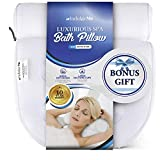 IndulgeMe Luxury Bath Pillow for Tub: Head, Back, Shoulder and Neck Support, Bathtub Spa Pillow with Extra Large Suction Cups, Fits All Bathtub, Hot Tub, Jacuzzi Spas