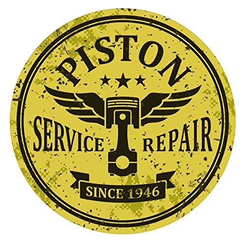 Finest-Folia Retro Vintage Aufkleber Sticker Old School Ace Kult Rockabilly (#26 Piston)