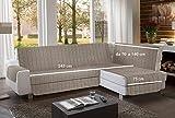 la biancheria di casa Simplicity Plus Angle Copri Salva Divano per divani ad Angolo (245 cm, Tortora)