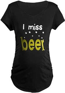 I Miss Beer Maternity Dark T-Shirt Maternity Tee