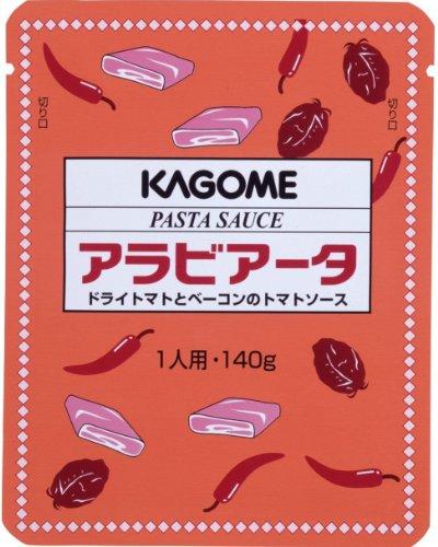 カゴメ パスタソース アラビアータ(ドライトマトとベーコンのトマトソース) 140g×5個