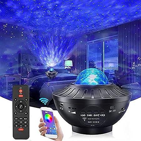 Projecteur Ciel Ctoilé avec Minuteur et Télécommande, Singe Home 2 en 1 Projecteur de Vagues Océaniques Pour Chambre de Bébé/Enfants/Salles deJeux/home Cinéma