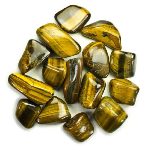 Hypnotic Gems Materials: 1lb Bulk Tumbled Gold Tiger Eye Stones from Africa - Natural Polished Gemstone Supplies for Wicca, Reiki, and Energy Crystal Healing *Wholesale Lot*