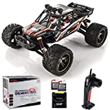 BEZGAR 8 Hobbyist Grade 1:12 Scale Remote Control Truck, 2WD High Speed 42 Km/h All Terrains Electric Toy Off Road RC Monster Vehicle Car Crawler with 2 Rechargeable Batteries for Boys Kids and Adults