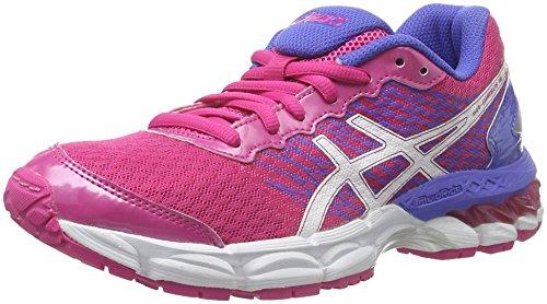Asics Gel-Nimbus 18 GS, Zapatos Deportivos Unisex Adulto, Multicolor (Sport Pink/White/Primrose Purple), 39.5 EU