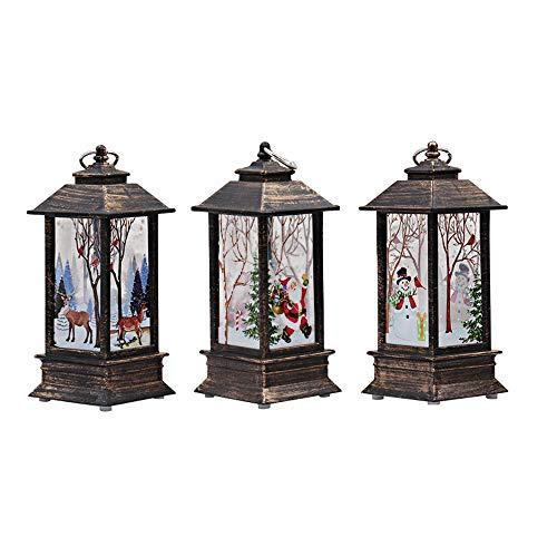3 Stück Weihnachtskerze mit LED Tee licht Kerzen für Weihnachtsdekoration Teil Auß Hnliche Beleuchtet Adventsschmuck (Mehrfarbig)