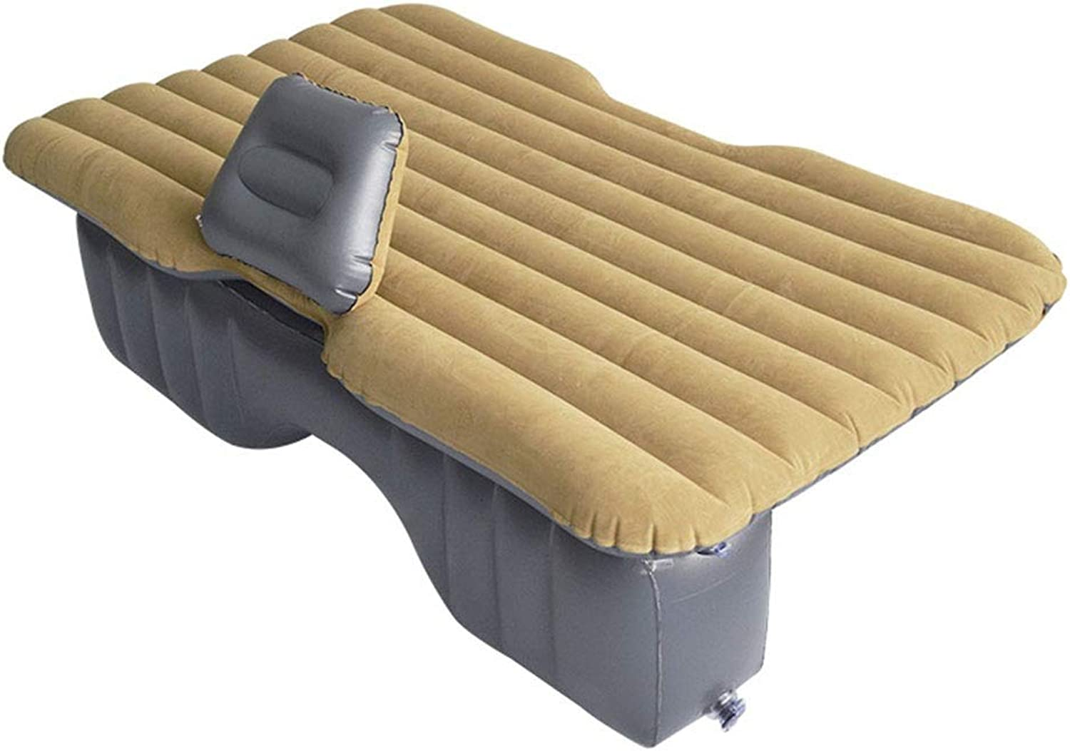 HeavyDuty Backseat Car Inflatable Travel Mattress for Camping Perfect for Your Minivan Or SUV Full Car Camping,Outdoor (color   Khaki, Size   143  87  45CM)