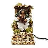 Joy Christmas Pastore per Presepe in Movimento 14 cm x 9 cm Donna con Bambino 48705