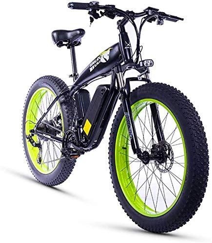 Electric Bike Electric Mountain Bike, 26 Inch Fat Tire 1000w15ah Snow Electric Bicycle Beach Ebike 21 Speed Hydraulic Disc Brake for The Jungle Trails, The Snow, The Beach
