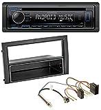 caraudio24 Kenwood KDC-110UB 1DIN MP3 USB CD AUX Autoradio für Skoda Fabia 2004-2007 6Y Facelift ISO