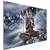 Decoración de la mesa de Buda Mural - 90 x 60 cm Vista de impresión en lienzo Salón Apartamento - listo para colgar - 505432b