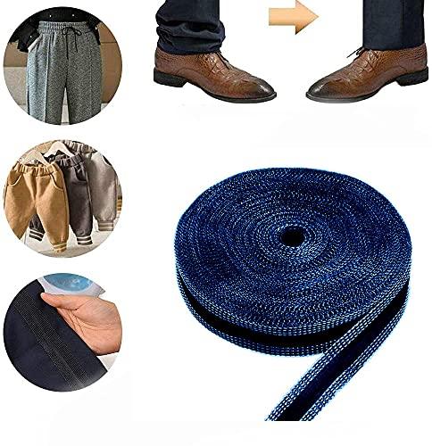 Pants Edge shorten self-Adhesive Pants Mouth Paste,Iron-on Hem Clothing Tape Adhesive Pants,Sewing Tape Adhesive for Hemming,Iron-on Hemming Tape Fabric fusing Tape,50m (Blue)