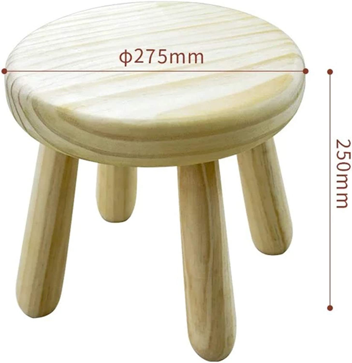 ZHANGQIANG colors Wooden Stool Chair Furniture Sitting Stool Stool Wood Stool Stool (color   Round-Pine, Size   A)