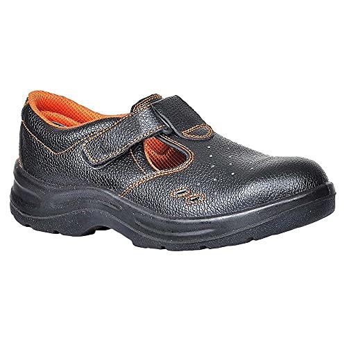 Portwest FW86 - Ultra sandalia de seguridad S1P 42/8, color Negro, talla 42
