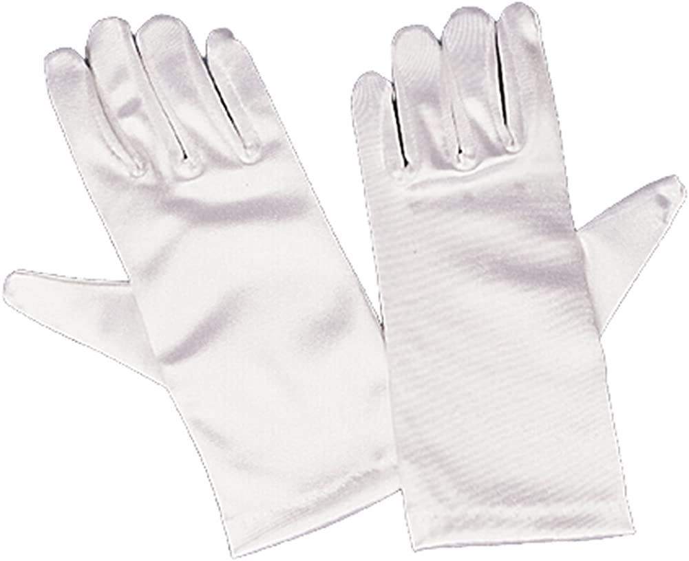 Girls White Satin 8-12 Al sold out. 1 year warranty Large Gloves