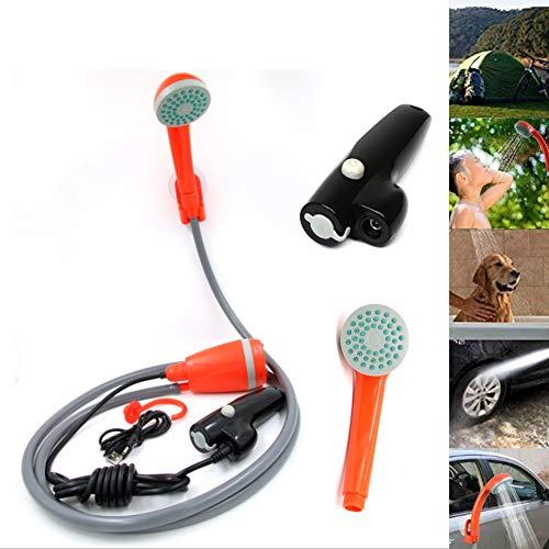 WFWPY Ducha portátil para Acampar con batería Recargable USB, batería portátil incorporada con 2200 mAh y Bomba de Ducha de 3.7 V para Acampar Senderismo Viajes al Aire Libre