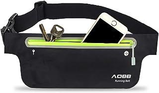 AOBB Riñonera Cinturón, Riñonera Deportiva, leggera e impermeabile Riñonera Running Cinturón Belt, per Corsa, Ciclismo, Fi...