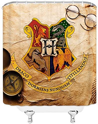 Not Applicable Harry Potter Cortina de Ducha Wizarding Hogwar School Logo Retro...