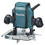 Makita RP0900 Fresadora De Superficie 900W 27000 Rpm Pinza, 900 W, Negro, Azul