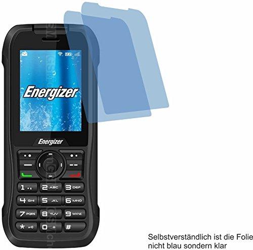 4ProTec I 2X Crystal Clear klar Schutzfolie für Energizer Hardcase H240S Bildschirmschutzfolie Displayschutzfolie Schutzhülle Bildschirmschutz Bildschirmfolie Folie
