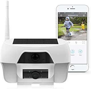 FREECAM Solar Powered WiFi Camera Outdoor Wireless Rechargeable Battery Powered Home Security Camera with Motion-Activated...