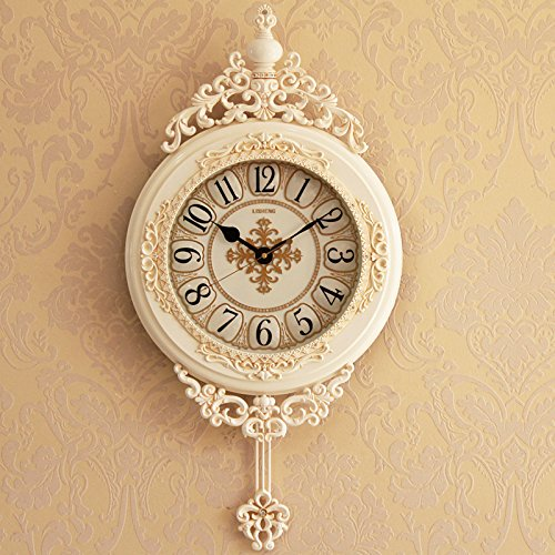 SJQ Chinese Style Retro Living Room Clock European Creative Clock American Wall...