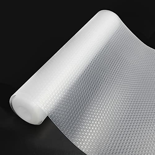Qhui 30x400 cm EVA Plastico Protector Antideslizante Cocina Cajones Estantes el Gabinete Estera Cuttable, Impermeable Estera del Refrigerador, Forro de cajón Reutilizable