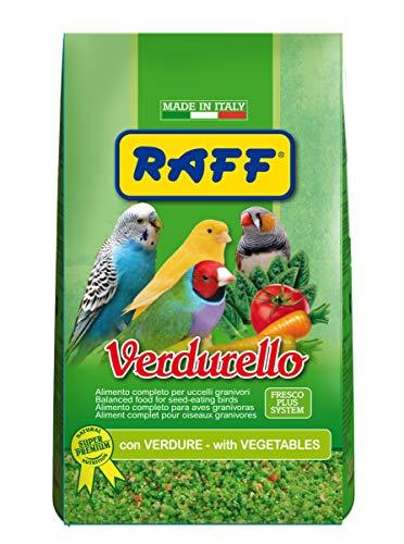 RAFF VERDURELLO 400GR - con Verdure ALIMENTO Completo per Uccelli GRANIVORI