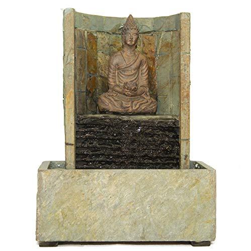 seliger Zimmer-Brunnen Schiefer-Brunnen Ning Echtstein-Brunnen beleuchtet Buddha-Brunnen