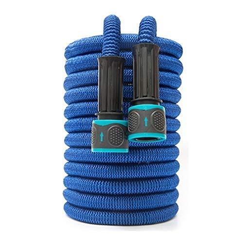 YYCHH Ampliable Manguera de jardín del Tubo de Agua mágica de la Manguera Flexible de Alta presión de la Manguera de riego Car Wash Gardenhose (Color : Blue, Size : 100ft 30m)