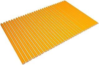 東プレ シャッター式風呂ふた 波型 カラーウェーブ 70×101cm オレンジ M10
