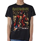 Iron Maiden Somewhere in Time Steve Harris Oficial Camiseta para Hombre (Medium)